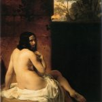 Francesco Hayez (1791-1882)  Susanna al bagno [Susanna Bathing]  Oil on canvas, 1850  53 1/8 x 47 1/8 inches (135 x 120 cm)  Private collection, New York City, New York, USA